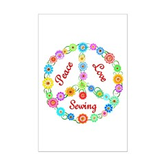 Sewing Peace Sign Posters
