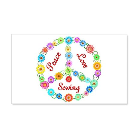 Sewing Peace Sign 22x14 Wall Peel