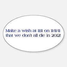 Cute Make a wish Sticker (Oval)