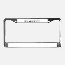 Cute Wish License Plate Frame
