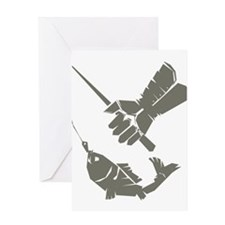 Serious Fishing Greeting Card