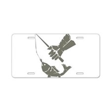 Serious Fishing Aluminum License Plate