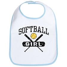 Softball Girl Bib