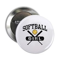"Softball Girl 2.25"" Button"