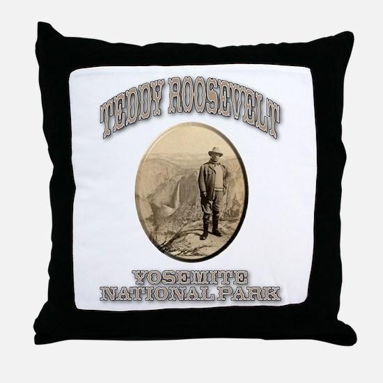 Roosevelt At Yosemite Throw Pillow