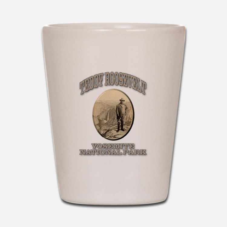 Roosevelt At Yosemite Shot Glass