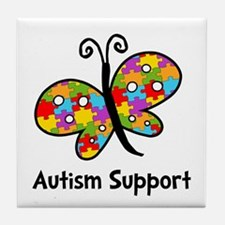 Autism Butterfly Tile Coaster