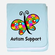 Autism Butterfly baby blanket