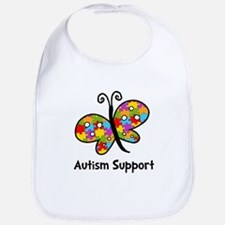 Autism Butterfly Bib