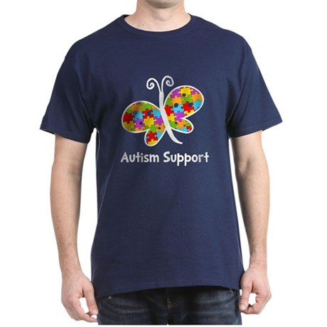 Autism Butterfly Dark T-Shirt
