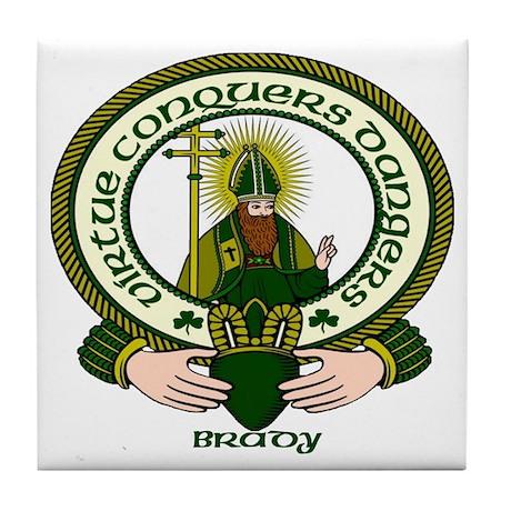 Brady Clan Motto Tile Coaster