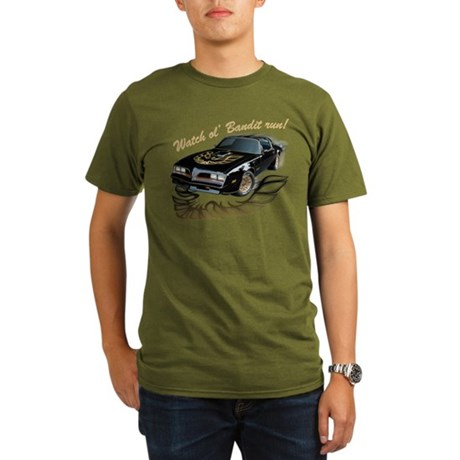 Watch ol' Bandit Run Organic Men's T-Shirt (dark)