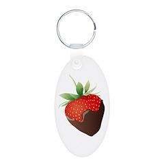 Chocolate Strawberry Keychains