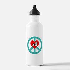 Peace Love Yorkie Water Bottle