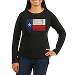 Vintage Texas Women's Long Sleeve Dark T-Shirt