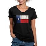 Vintage Texas Women's V-Neck Dark T-Shirt
