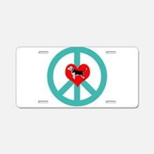 Peace Love Beagle Aluminum License Plate