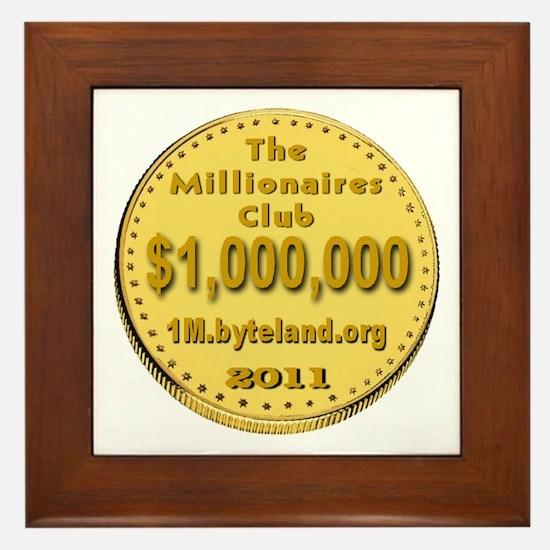 The Millionaires Club Framed Tile