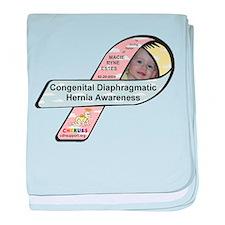 Macie Ryne Estes CDH Awareness Ribbon baby blanket
