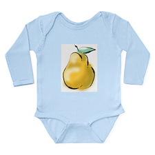 Nice Pear Long Sleeve Infant Bodysuit