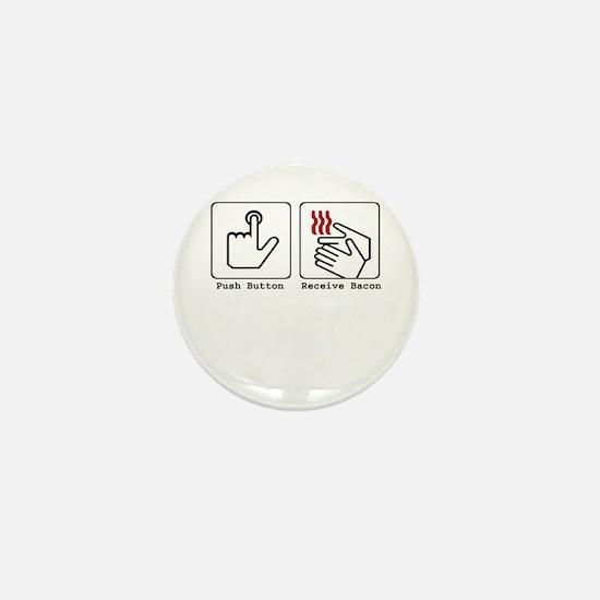 Funny Bacon Dryer Mini Button