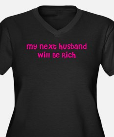 My Next Husband Will Be Rich Women's Plus Size V-N