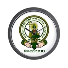 Brennan Clan Motto Wall Clock