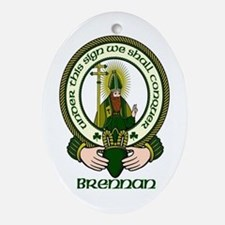 Brennan Clan Motto Ornament (Oval)