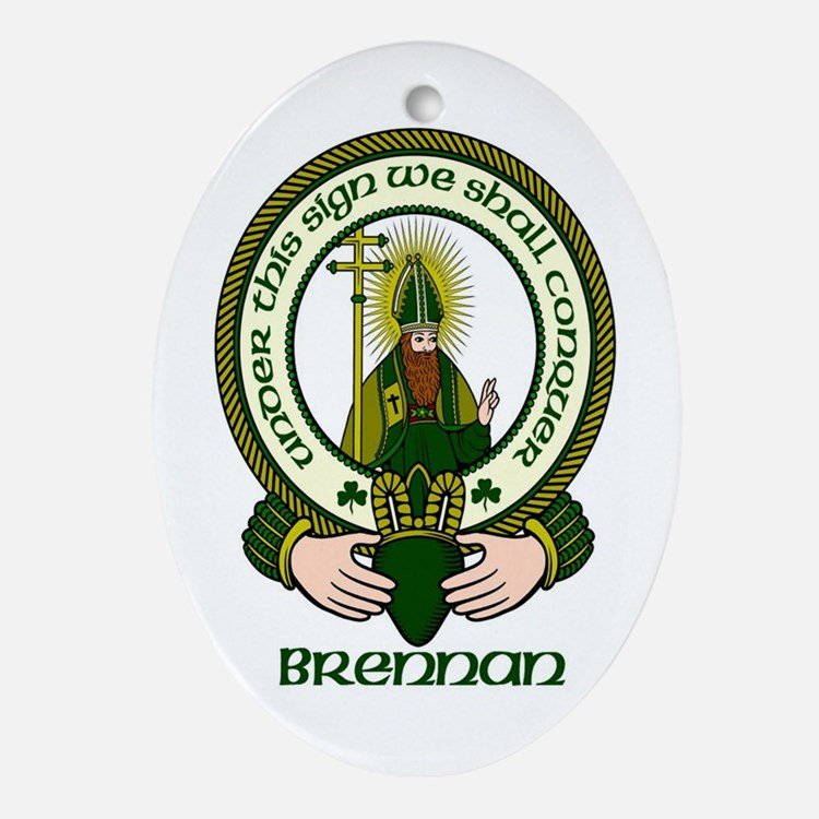 Brennan Clan Motto Ornament (Oval)