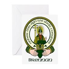 Brennan Clan Motto Greeting Cards (Pk of 10)