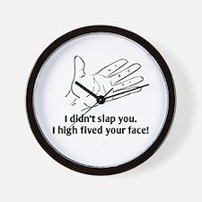 Funny Face Slap Wall Clock