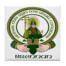 Brennan Clan Motto Tile Coaster