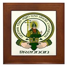 Brennan Clan Motto Framed Tile