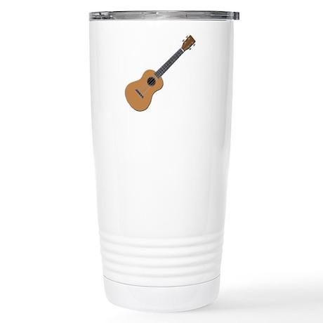 ukulele Stainless Steel Travel Mug