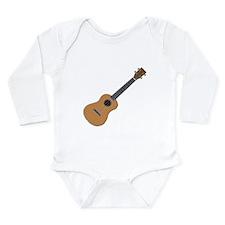 ukulele Long Sleeve Infant Bodysuit