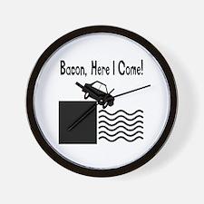 Drive Into Bacon Wall Clock