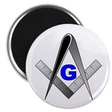 "Masonic Square and Compass 2.25"" Magnet (10 pack)"