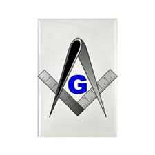 Masonic Square and Compass Rectangle Magnet (100 p