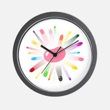 pink jellybean blowout Wall Clock