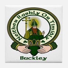 Buckley Clan Motto Tile Coaster