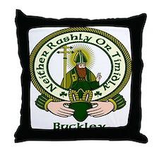 Buckley Clan Motto Throw Pillow