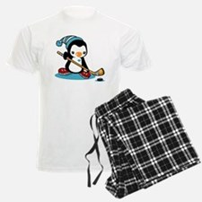 Ice Hockey Penguin Pajamas