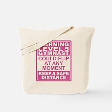 Warning Gymnast May Flip Tote Bag