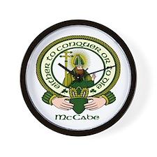 McCabe Clan Motto Wall Clock