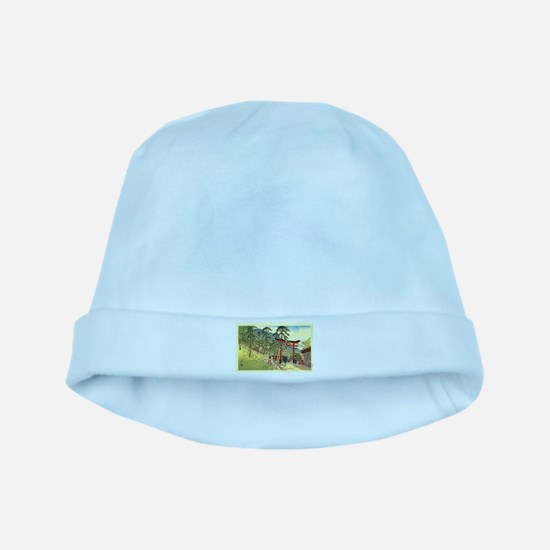 Cool Japanese Mountain Torii Gate Japan Baby Hat