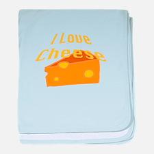 I Love Cheese baby blanket
