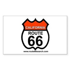 California Route 66 Rectangle Decal