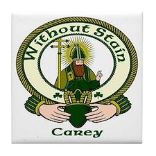 Carey Clan Motto Tile Coaster