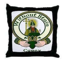 Carey Clan Motto Throw Pillow