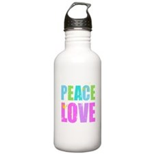 Inked Peace and Love Water Bottle
